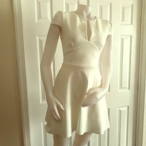 RED Saks Fifth Avenue White Dress Small